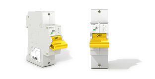 Automatic electricity switchers . Automatic electricity switchers on a white background. 3D illustration Stock Photos