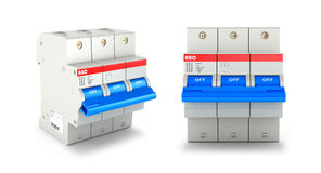 Automatic electricity switchers. On a white background. 3D illustration Royalty Free Stock Images