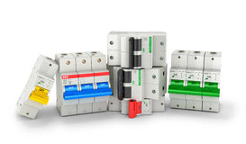 Automatic electricity switchers. On a white background. 3D illustration Stock Photography
