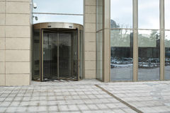 Office building entry door Stock Photos
