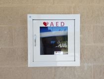 Automatic External Defibrillator royalty free stock images