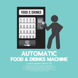 Automatic Food Machine Symbol. Stock Photo