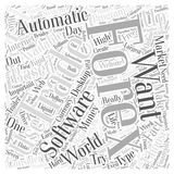 Automatic forex trading software word cloud concept background. Text royalty free illustration