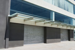 Automatic garage door. S at a modern building stock images