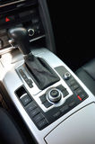 Automatic gear level inside car Royalty Free Stock Images