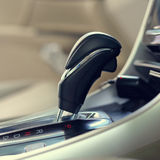 Automatic gear parked inside modern vehicle car Stock Images
