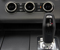 Automatic gear shift handle Royalty Free Stock Photos