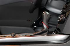 Automatic gear shift handle Royalty Free Stock Images
