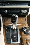 Automatic gear shift handle. Luxury sport car interior Stock Photography