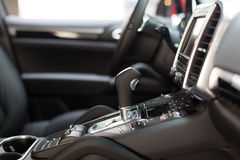 Automatic gear shift handle Royalty Free Stock Photo