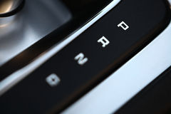 Automatic gear shifter Stock Images