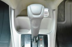 Automatic gear stick on parking position in car. Automatic gear stick on parking position in the car royalty free stock image
