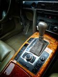Automatic gearbox. Car deluxe automatic gearbox royalty free stock photo