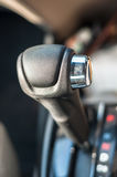 Automatic gearbox. Automatic gear shift of a car, a vertical picture stock photos