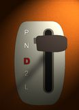 Automatic gearshift. Figure of the lever of an automatic gearshift of the car Royalty Free Stock Photo