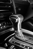 Automatic gearshift in sport car Royalty Free Stock Photos