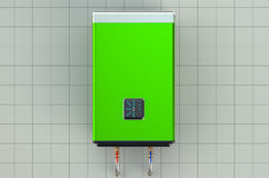 Automatic green water heater or boiler Royalty Free Stock Photos