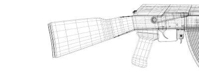 Automatic gun Stock Photography