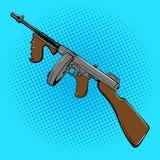 Automatic gun comic book style pop art vector Stock Photos