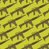Automatic gun seamless pattern. Military background.. Weapons ornament. Many Army M16 rifle Stock Photos