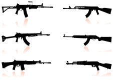 Automatic Gun Set Royalty Free Stock Images