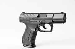 Automatic Handgun. On a white background Stock Images