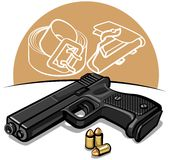 Automatic handgun Royalty Free Stock Image