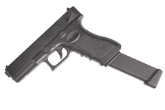 Automatic handgun Stock Photo