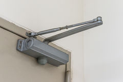 Automatic hydraulic leaver hinge door closer holder Stock Photos