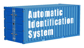 Automatic identification system  cargo container Stock Photos