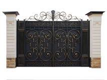 Automatic iron gate. Isolation. stock photo