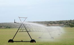 Automatic irrigation sprinkler pivot Royalty Free Stock Photos