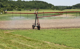 Automatic irrigation system Stock Photo