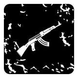 Automatic Kalashnikov icon, grunge style Stock Images
