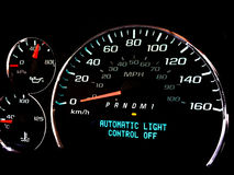 Automatic light control off warning light Royalty Free Stock Image