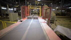 Automatic line bricks production. Robotic conveyor. stock video footage