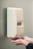 Automatic Liquid Soap Dispenser On Wall Royalty Free Stock Image