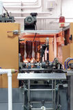 Automatic machine for blowing plastic PET bottles. Royalty Free Stock Images