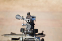 Automatic machine gun directed toward. Royalty Free Stock Image