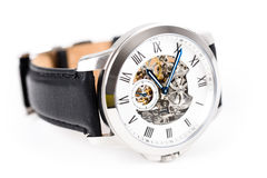 Automatic Men Watch With Visible Mechanism Royalty Free Stock Photos
