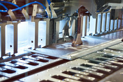 Automatic metal panel bending. Compact automatic metal panel bending Stock Images
