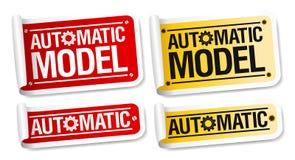 Automatic model stickers. stock illustration