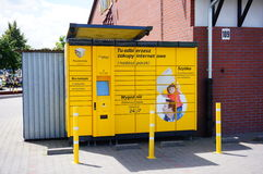 Automatic package service. Automatic package mail service in Poznan, Poland Stock Photography