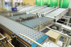 Automatic packing conveyor Royalty Free Stock Photos