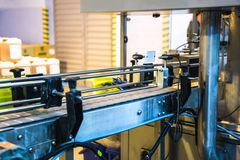 Automatic packing line of conveyor Stock Image