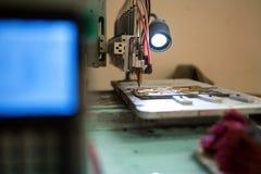 Automatic pattern painting machine Stock Photos
