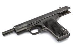 Automatic pistol, isolated on white background Stock Photo