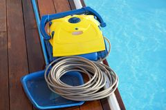 Automatic pool cleaners. Royalty Free Stock Photos
