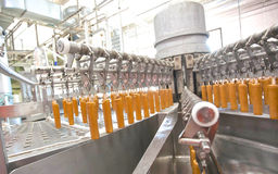 Automatic production line of fruit ice cream Royalty Free Stock Images