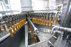 Automatic production line of fruit ice cream Stock Images